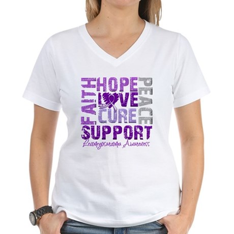 Hope Leiomyosarcoma Women's V-Neck T-Shirt