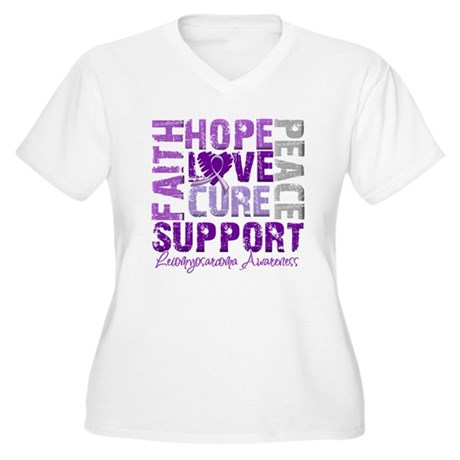 Hope Leiomyosarcoma Women's Plus Size V-Neck T-Shi