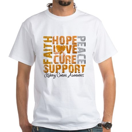 Hope Kidney Cancer White T-Shirt