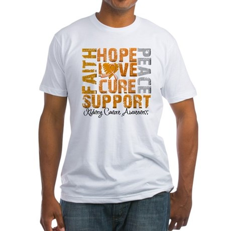 Hope Kidney Cancer Fitted T-Shirt