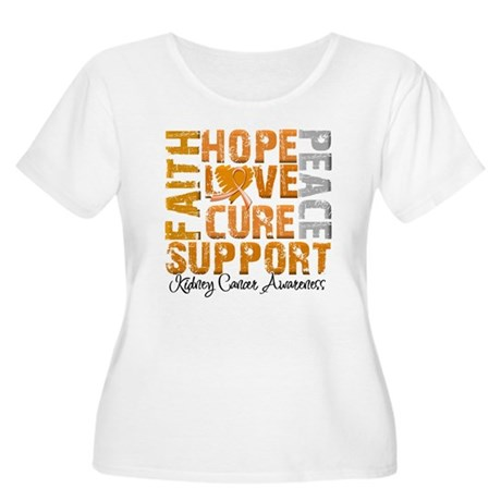 Hope Kidney Cancer Women's Plus Size Scoop Neck T-
