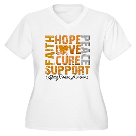 Hope Kidney Cancer Women's Plus Size V-Neck T-Shir