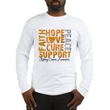 Hope Kidney Cancer Long Sleeve T-Shirt