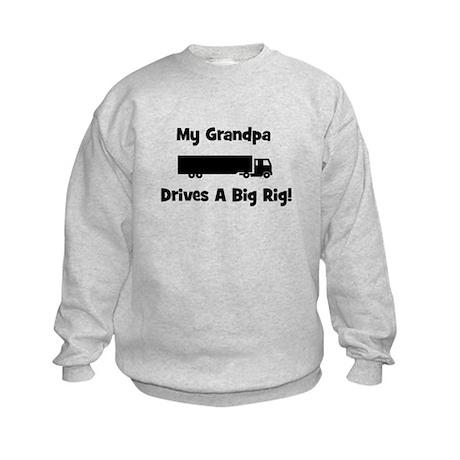 Grandpa Drives Big Rig Kids Sweatshirt