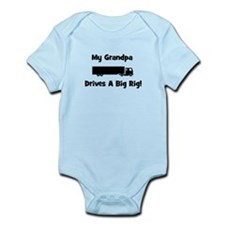 Grandpa Drives Big Rig Infant Bodysuit
