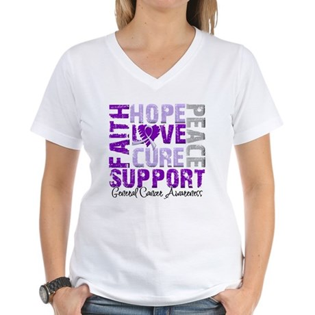 Hope General Cancer Women's V-Neck T-Shirt