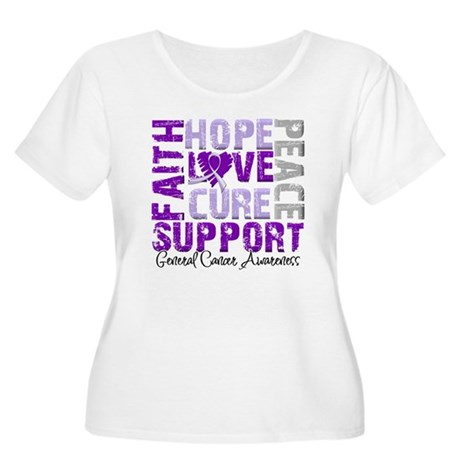 Hope General Cancer Women's Plus Size Scoop Neck T