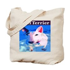 Cute Bull terrier dogs Tote Bag