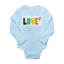 Love (squared) Long Sleeve Infant Bodysuit