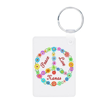 Peace Love Nanas Aluminum Photo Keychain