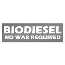 BIODIESEL No War Required (White)