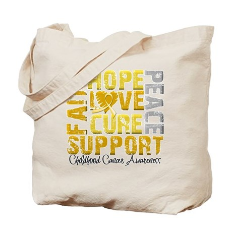 Hope Childhood Cancer Tote Bag