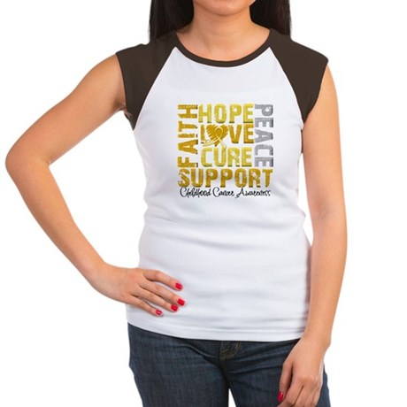 Hope Childhood Cancer Women's Cap Sleeve T-Shirt