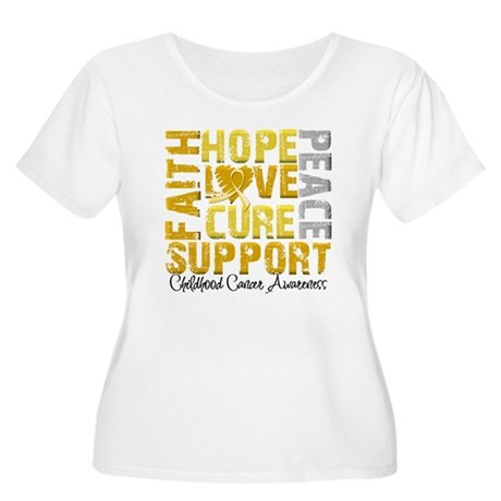 Hope Childhood Cancer Women's Plus Size Scoop Neck