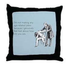 Age Related Jokes Throw Pillow