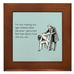 Age Related Jokes Framed Tile