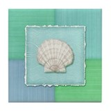 Cool Seashell Tile Coaster