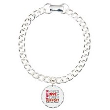 Hope Brain Cancer Charm Bracelet, One Charm