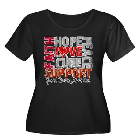 Hope Brain Cancer Women's Plus Size Scoop Neck Dar