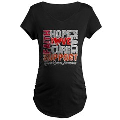 Hope Brain Cancer Maternity Dark T-Shirt