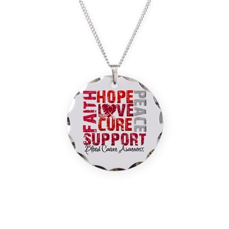 Hope Blood Cancer Necklace Circle Charm