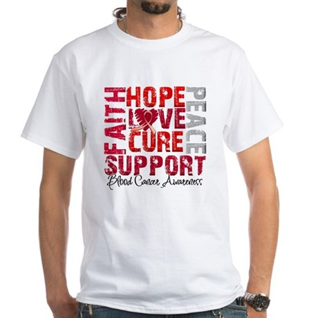 Hope Blood Cancer White T-Shirt