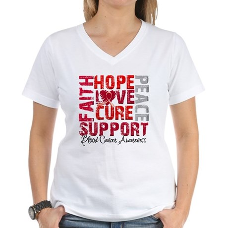 Hope Blood Cancer Women's V-Neck T-Shirt