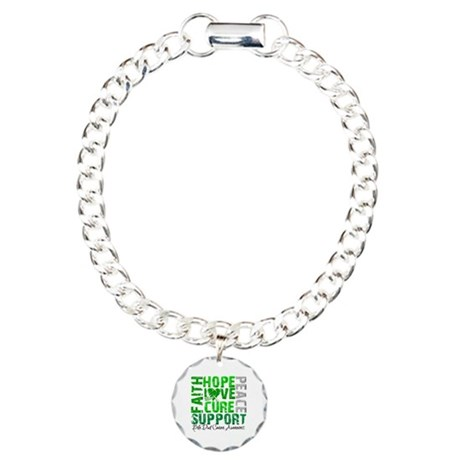 Hope Bile Duct Cancer Charm Bracelet, One Charm