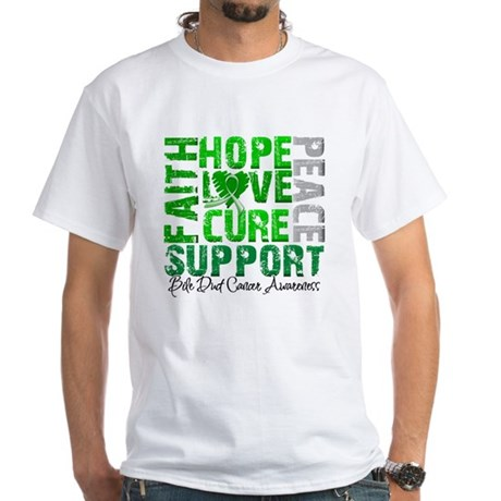 Hope Bile Duct Cancer White T-Shirt