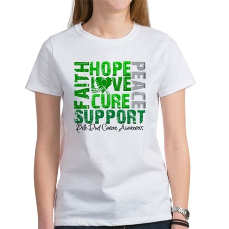 Hope Bile Duct Cancer Women's T-Shirt