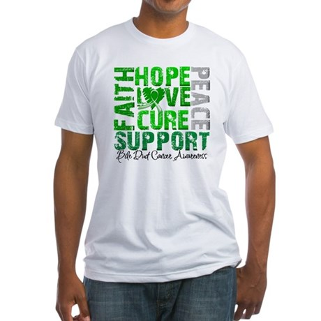 Hope Bile Duct Cancer Fitted T-Shirt