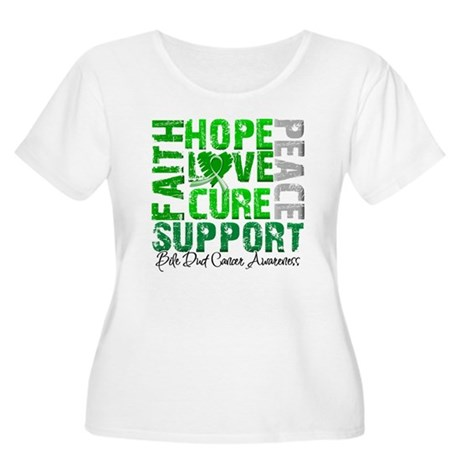 Hope Bile Duct Cancer Women's Plus Size Scoop Neck