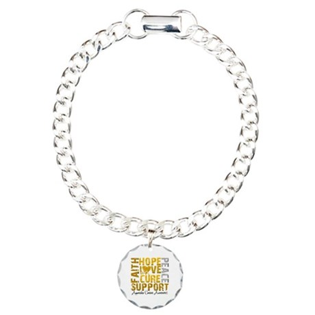 Hope Appendix Cancer Charm Bracelet, One Charm