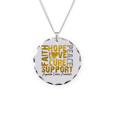 Hope Appendix Cancer Necklace Circle Charm
