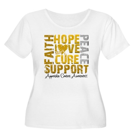 Hope Appendix Cancer Women's Plus Size Scoop Neck