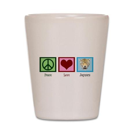 Peace Love Jaguars Shot Glass