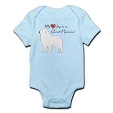My Heart Dog is a Pyr Infant Bodysuit