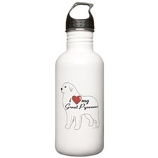 Heart My Great Pyrenees Water Bottle