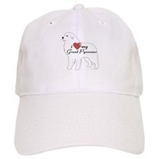 Heart My Great Pyrenees Baseball Cap