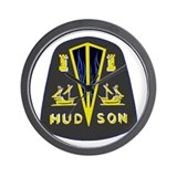 Dark Hudson Logo Wall Clock