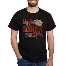 pokerspelling_front_thwriteredneck T-Shirt