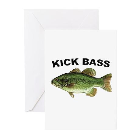Kick Bass Bassmaster Greeting Cards (Pk of 10)