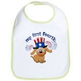 My first Fourth of July Bib