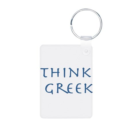 think greek Aluminum Photo Keychain