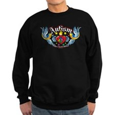 Autism Bird & Heart Sweatshirt