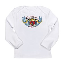 Autism Bird & Heart Long Sleeve Infant T-Shirt