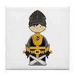 Cute Crusader Knight Tile Coaster
