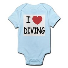 I heart diving Infant Bodysuit
