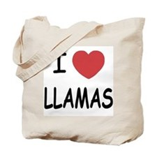 I heart llamas Tote Bag
