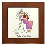 Funny Mother of the Bride Framed Tile